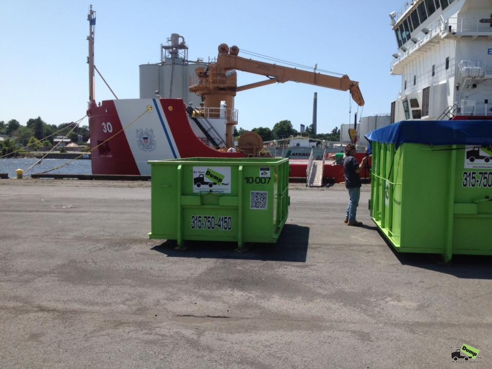 Central New York dumpster rental helping US Coast Guard