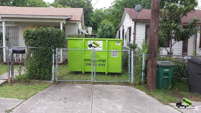 14 yard dumpster to fit behind gate