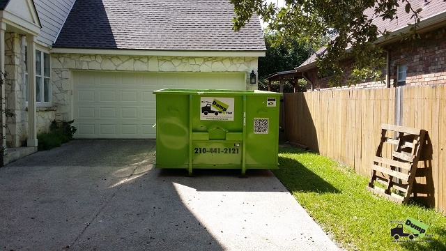 14 yd dumpster fit in one parking spot