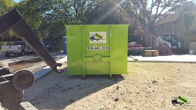 20 yard dumpster for landscaping project