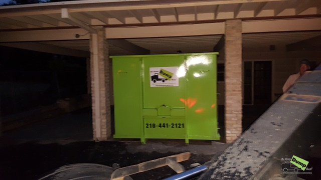 20 yard dumpster to fit under carport